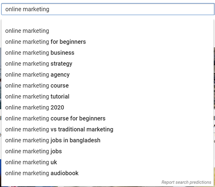 YouTube Search Suggest