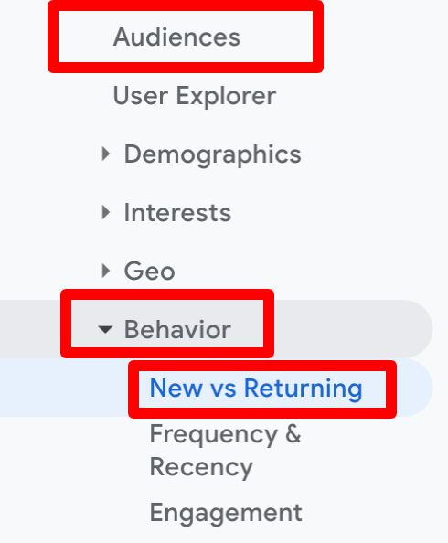 bounce rate by new vs returning visitors
