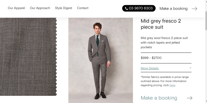 Mid grey fresco 2 piece suit