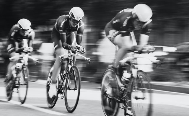 Fast riding cyclists