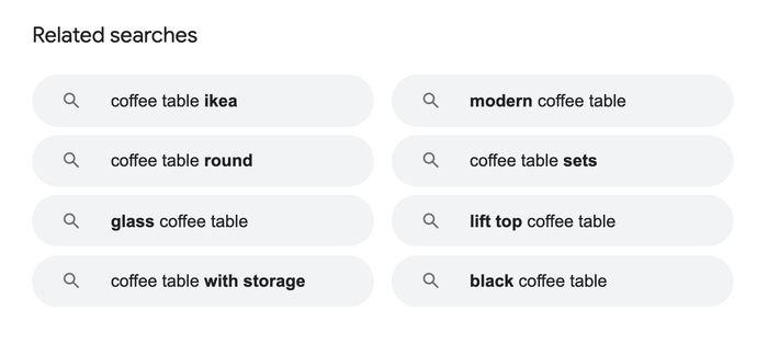 coffee table - Google Related Search