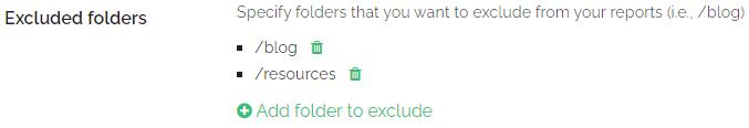 Exclude folders