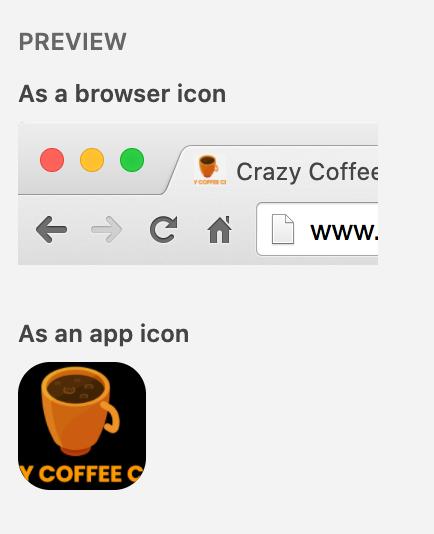 favicon preview on wordpress