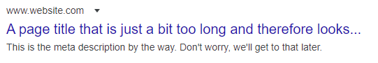 Long page title not fully showing in Google