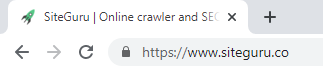 Page title in browser tab