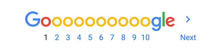 google serp pagination